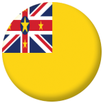 Niue Country Flag 25mm Flat Back
